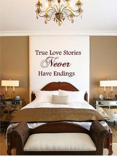 Large True Love Stories Never Have Endings by VinylDesignCreations, $37.00
