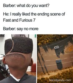 10 Terrible Haircuts That Were So Bad They Became Say No More Memes Funny Shit, Funny Puns, You Funny, Really Funny, Hilarious, Funny Stuff, Memes Humor, Jokes, Haircut Quotes Funny