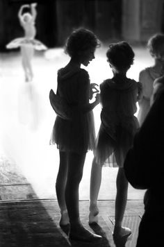 waiting in the wings | little girls ballet classes | dance | perform | tutu | black white photography | exit stage right | dancing class | point | light and shade