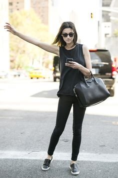 all black. #offduty in NYC. - Spring is Sprung! -