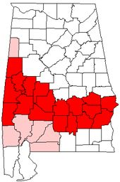 Alabama Black Belt Counties: Barbour, Bullock, Butler Choctaw, Crenshaw, Dallas, Greene, Hale, Lowndes, Macon, Marengo, Montgomery, Perry, Pickens, Pike, Russell, Sumter, Wilcox