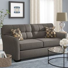 Looking for Ashworth Sofa Andover Mills ? Check out our picks for the Ashworth Sofa Andover Mills from the popular stores - all in one. Furniture Decor, Living Room Furniture, Furniture Sets, Living Room Decor, Furniture Design, Sofa Upholstery, Upholstered Sofa, American Sofa, Early American