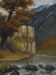 Gustave Courbet (1819-1877) - Landscape near Ornans  Oil on canvas (64.7 x 49.5 cm)