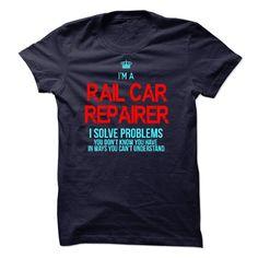 RAIL CAR REPAIRER T-Shirts, Hoodies. VIEW DETAIL ==► https://www.sunfrog.com/LifeStyle/RAIL-CAR-REPAIRER-48886390-Guys.html?id=41382