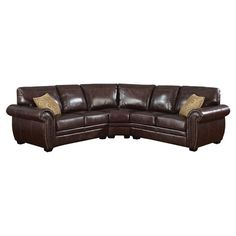 Sectional sofa with foam cushioning and a wood frame.   Product: Sectional sofaConstruction Material: Wood and fa...