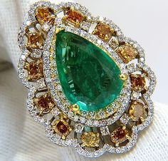 GIA-Certified-12-77ct-natural-emerald-fancy-colors-cocktail-diamond-ring-18kt