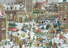 pcs - Christmas - Jan van Haasteren (by Jumbo) - Babylon Hobbies Puzzles Jan Van Haasteren Christmas Puzzle Christmas Jigsaw Puzzles, Christmas Puzzle, Puzzle 1000, Light Side, Christmas Humor, Vignettes, 1000 Piece Jigsaw Puzzles, City Photo, Photo Wall