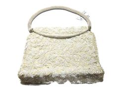 Vintage Regal White Beaded Purse