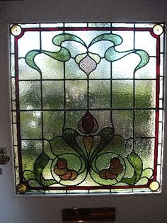 edwardian stained glass-Ed118 Stained Glass Panels, Leaded Glass, Stained Glass Art, Edwardian House, Window Panels, How To Make Notes, Old English, Art Nouveau, Coriander
