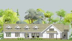 Somerset Unique Ranch House Plan - open floor plan, main floor master suite