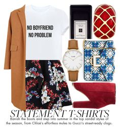 """SAY WHAT: STATEMENT T-SHIRTS"" by noraaaaaaaaa ❤ liked on Polyvore featuring MSGM, The 2nd Skin Co., Wild Diva, Jo Malone, CLUSE, MayraFedane and Charter Club"