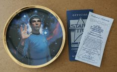 1991 Hamilton Collection Star Trek 25th Anniversary Spock Limited Edition Plate