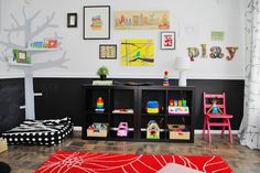 Make a nursery that is baby-focused, not adult-focused.  Bed and toys are all accessible.