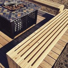 Green roof patio benches | Do It Yourself Home Projects from Ana White