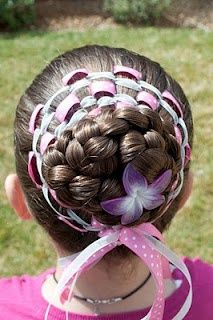 cute hairstyles for girls...I doubt I'd have the patience for this one though...and how would you even do it