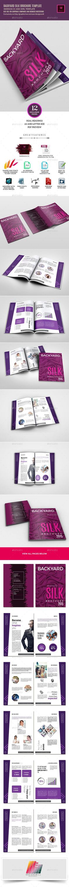 Brochure — InDesign INDD #quotation #print ready • Available here → https://graphicriver.net/item/brochure/10281228?ref=pxcr