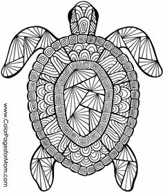 turtle coloring page #turtle #adultcoloringpage #adultcolorpage #coloring #colorpages