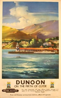 Dunoon on the Firth of Clyde, 1957 - original vintage poster by Claude R I Buckle listed on AntikBar.co.uk