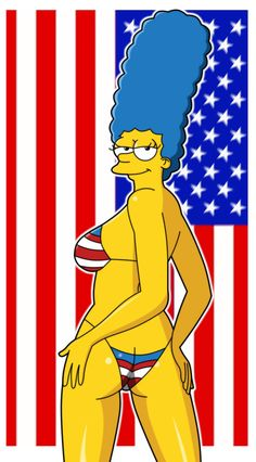 Another of July themed pic for 's art jam, this time featuring Marge Simpson. Cartoon Girl Hot, Cartoon Fan, Great Pictures, Old Pictures, Bart And Lisa Simpson, Simpsons Cartoon, Pin Up Illustration, Illustrations, Joe Cool