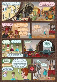 Dungeon Diaries :: Market Mischief   Tapastic Comics - image 1