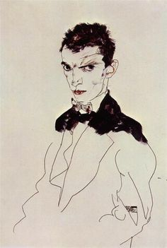 Egon Schiele, Self-Portrait, 1912 … probably my favorite Schiele self-portrait. I aspire to be the man in this image.