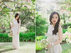 Whimsical Bridal inspirations on polka dot bride featuring the Miss Audrey gown in Oyster.