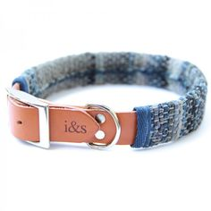 <p>The Indigo Dyed Rag Rug dog collar from IKE AND STELLA combines a logo embossed tan leather collar and unique removable sleeve made from Indian rag rug. </p>  <p>Each dog collar is 100% handmade in Los Angeles and features a silver buckle and D-Ring. For every collar sold, $1 goes towards the welfare and rehoming of rescue pups in the Bahamas.</p>