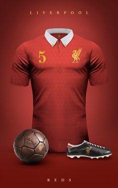 Liverpool - Camisetas vintage de gigantes de Europa