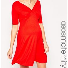 Red ASOS Maternity Dress EUC.. Beautiful red maternity dress!! Lots of room for a growing belly! ASOS Dresses