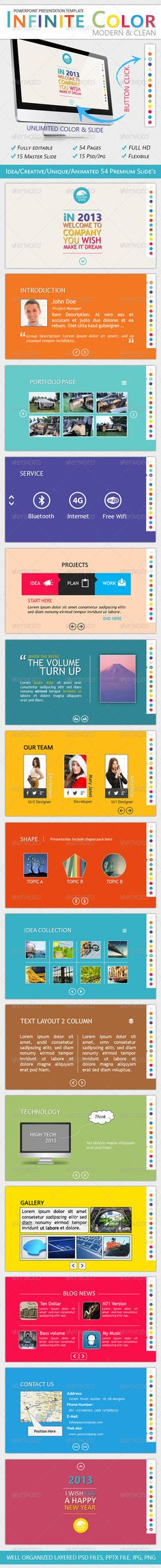 Buy Infinite Color - Powerpoint Presentation Template by DesignEndless on GraphicRiver. The Infinite Color – Powerpoint Presentation Professional Template 'FULL HD' The Infinite Powerpoint Presentat. Professional Powerpoint Presentation, Powerpoint Presentation Templates, Keynote Template, Presentation Layout, Business Presentation, Typography, Graphic Design, How To Plan, Creative