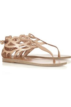 Medea cutout mirrored-leather sandals by Ancient Greek