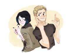 mrs and mr mori-becket (or mako and raleigh acting like overgrown children)