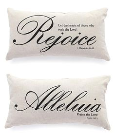 Another great find on #zulily! Scripture Throw Pillow - Set of Two #zulilyfinds