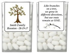 Use these labels to create a special favor for any family event. Sold in sets of Quantity of 1 = 28 labels, (quantity of 2 = etc. Text can be customized to fit your event. Family Reunion Themes, Family Reunion Activities, Family Reunion Shirts, Family Reunions, Youth Activities, Family Gatherings, Tomlinson Family, Cookbook Template, Group Games