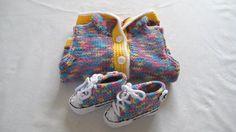 MultiColoured Crochet Converse Baby Booties & by BabyJaneKnits, £20.00