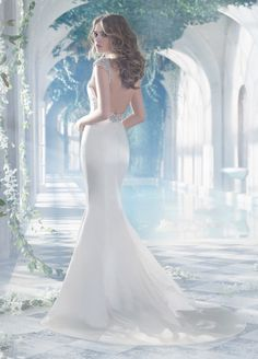 The back on this is gorgeous <3  Bridal Gowns, Wedding Dresses by Alvina Valenta - Style AV9410