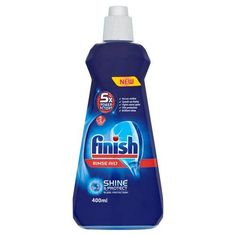 Finish Rinse Aid has Power Actions and a Glass Protection ingredient for shinier & drier dishes.