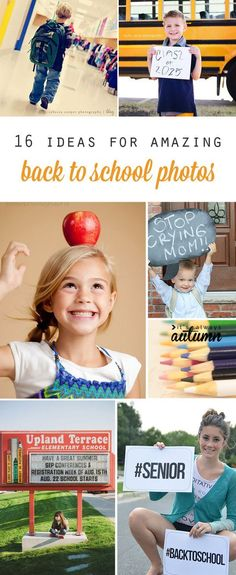 great tips and ideas for first day of school photos or a back to school photoshoot. I want to try some of these this year!