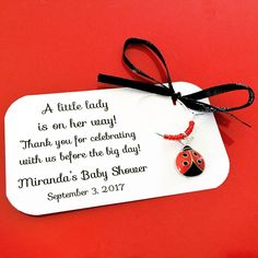 Ladybug baby shower wine charm favors: 1 charm set. Ladybug theme Baby Shower Favors & Ladybug Party Decor. 1 to 50 favors. by Winewifehappylife on Etsy