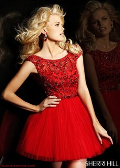 Beautiful color red - Sherri Hill 2814 Cocktail Dress