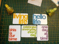 Free Bold title project life printable card set.
