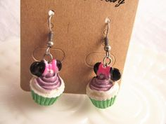 Mini Mouse CUPCAKE EarringsKid's by CedarCoveCreations on Etsy