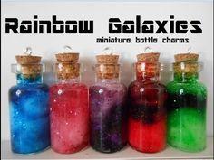 Bottle charm: Rainbow Galaxy