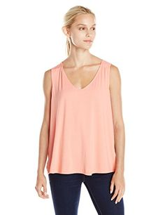 Three Dots Womens Fit and Flare Tank with Cross Over Back Top *** Check out this great product.