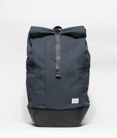 A rolltop, water resistant backpack featuring intelligent segregation of space and waterproof coated nylon fabric.