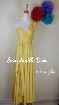 Yellow Convertible Dresses for your bridesmaids