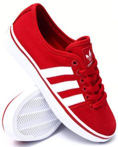 Simple red Adria low profile sneakers by Adidas. Featuring both canvas and suede uppers. Always have to have a nice pair of red sneakers to change up the scene every now and then.