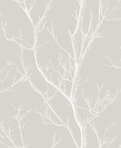 Albany Silhouette Tree Grey Wallpaper main image