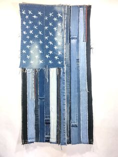 Hey, I found this really awesome Etsy listing at https://www.etsy.com/listing/474298010/denim-american-flag-handcrafted-from