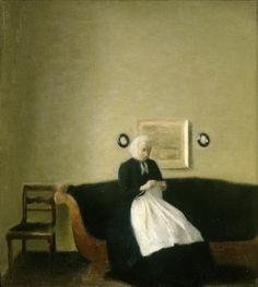 'Interior with the Artist's Mother' by Vilhelm Hammershoi (1889)